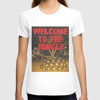 Welcome To The Jungle Womens Fitted Tee White SMALL