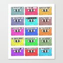 Cassettes - My Favourite Artists Canvas Print