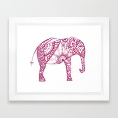 Pink Elephant Framed Art Print
