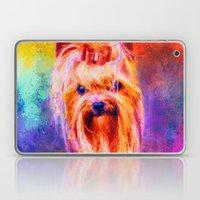 Jazzy Yorkshire Terrier Colorful Dog Art by Jai Johnson Laptop & iPad Skin