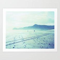 Piha Polaroid Art Print