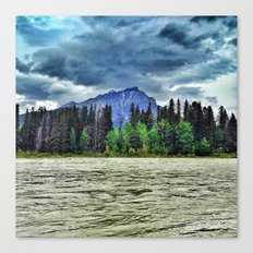 The River and a Mountain of Lightning Canvas Print