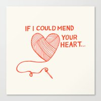 Mend Your Heart Canvas Print