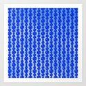 Blue Beads Art Print