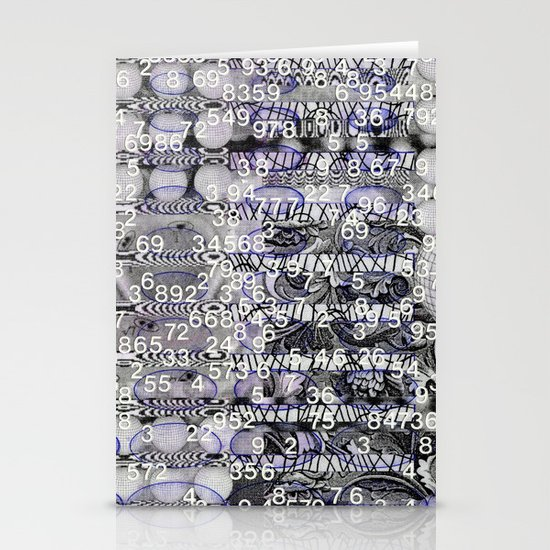 Post-Digital Tendencies Emerge (P/D3 Glitch Collage Studies) Stationery Card