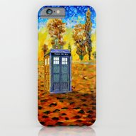 iPhone & iPod Case featuring Tardis At Fall Grass Fie… by Three Second