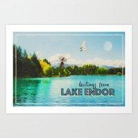 Greetings From Lake Endo… Art Print