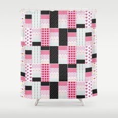 Patchwork Valentine Shower Curtain