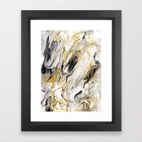Black and Gold Marble Framed Art Print