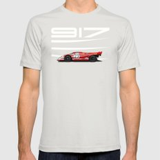 Porsche 917-023 1970 Le Mans Winner SMALL Mens Fitted Tee Silver