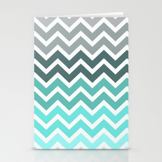 Tiffany Fade Chevron Pattern Stationery Card