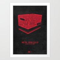 Metal Gear Solid Typogra… Art Print