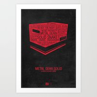 Metal Gear Solid Typogra… Art Print