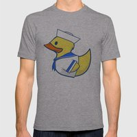 Sailor Duck Mens Fitted Tee Athletic Grey SMALL
