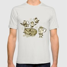 Bee Team Mens Fitted Tee Silver SMALL