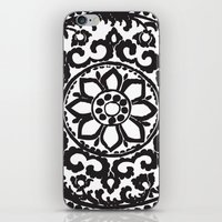 Black Ornament Art Deco iPhone & iPod Skin