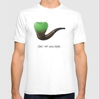 This Is A Pipe Mens Fitted Tee White SMALL