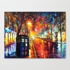 Tardis Full Color Canvas Print