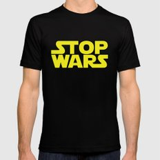 Stop Wars Mens Fitted Tee SMALL Black