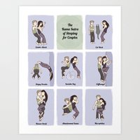 The Sleeping Kama Sutra  Art Print