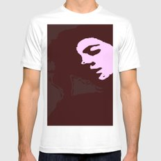 Stamp Geisha  Mens Fitted Tee White SMALL