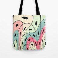 Wavy Pastel Shapes Tote Bag