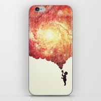 The universe in a soap-bubble! (Awesome Space / Nebula / Galaxy Negative Space Artwork) iPhone & iPod Skin