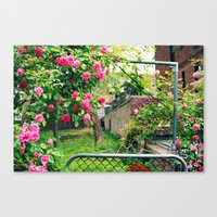 Flowers Blossoming On Th… Canvas Print