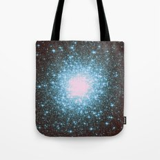 Teal Galaxy Stars Tote Bag