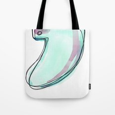 Green Surf Tail Tote Bag