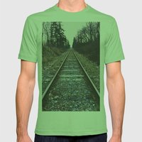 Train Tracks Mens Fitted Tee Grass SMALL