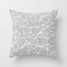 Abstraction Linear Inverted Throw Pillow