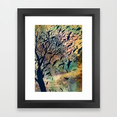 Away to the sky Framed Art Print