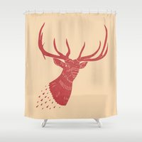 Taxidermied Elk Shower Curtain