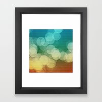 Orange Blue Green Ombre … Framed Art Print