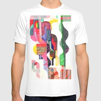 Collage I Mens Fitted Tee White SMALL