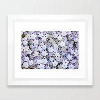 Flower carpet Framed Art Print