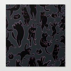 BLACK CATS Canvas Print