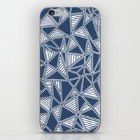 Abstract Outline Lines Navy  iPhone & iPod Skin