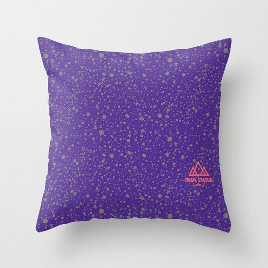 Trail Status / Mountain Purple Throw Pillow