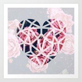 Art Print - heart roses - Lost Empire