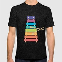 #70 Xylophone Mens Fitted Tee Tri-Black SMALL