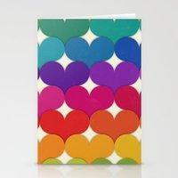 Rainbow Hearts Stationery Cards