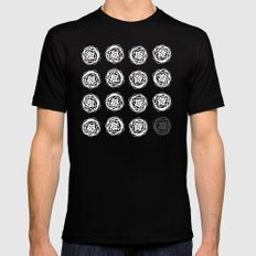 Rose Garden Mens Fitted Tee Black SMALL
