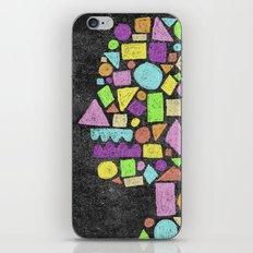 Mosaic Silhouette iPhone & iPod Skin