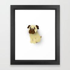 Little Pug Framed Art Print