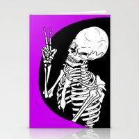 Skeleton Wink Stationery Cards