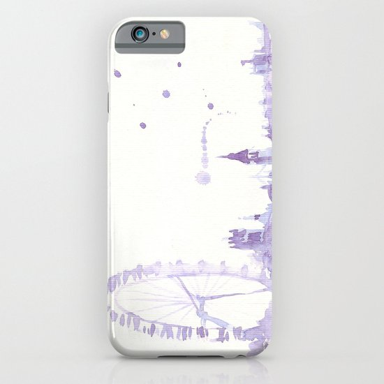 Watercolor landscape illustration_London Eye iPhone & iPod Case