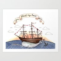 Float My Boat Art Print