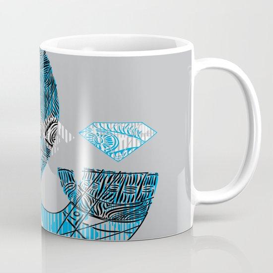 mesmerized by the light blue diamond Mug